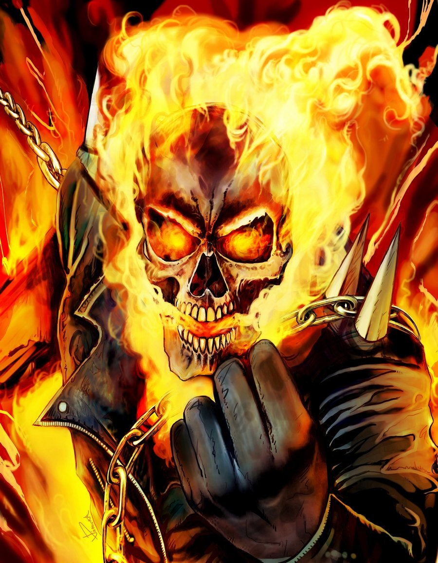 Ghost Rider drawn by Jose-Patricio Aguirre