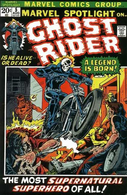 Ghost Rider's premier in Marvel Spotlight #5